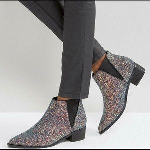 ASOS Glitter Boots - 6